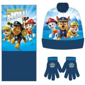 Boys Toddler Paw Patrol Kids Fleece Winter Hat Snood Gloves Beanie Hat Scarf New