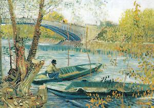 Postkarte: Vincent van Gogh - Angeln im Frühling
