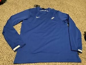 Nike Air Force Falcons On Field Pullover Crew Shirt Blue 2020 Men's Size: 2XL