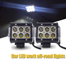 "4"" 18W White LED Work Flood Light Bulb 4WD Offroad Spot Car SUV Fog Driving Lamp"