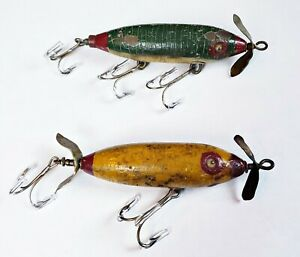 Pair Of Unknown Maker Surface Minnow Lures Circa 1930s-40s