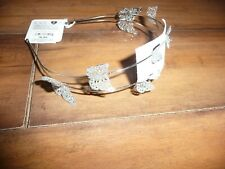 NEW NWT Childrens Place girl beautiful silver sparkle butterfly headband
