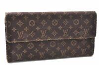 Louis Vuitton Monogram Mini Lin Portefeuille Sarah Wallet Brown M95234 LV A8966