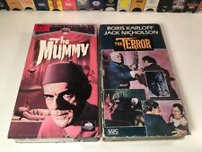 Boris Karloff Classic Horror VHS Lot of 2 The Terror & The Mummy Universal