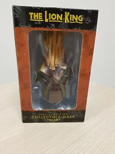 """Disney The Lion King Special Edition Collectible Mask """"Scar"""" from New York Show"""