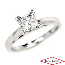 GSI Leo 0.96ct Princess Cut Diamond Platinum Solitaire Engagement Ring NR
