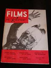 """""""FILMS in REVIEW"""" Magazine, June-July 1958 """"Eugene O'Neill on the Screen"""" Movie"""