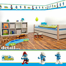 Smurfs Self Adhesive Decorative Wall Border - 5m - Children's Bedroom/Playroom
