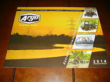 2014 ARGO AMPHIBIOUS EXTREME COMMERCIAL VEHICLES - DEALER BROCHURE 16 PAGES