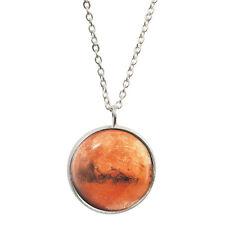 Rouge planète Mars Motif Pendentif et plaqué argent collier espace astronomie