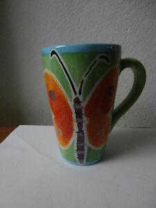 """Tazza tazzina collezione """"Farfalla"""" handpainted collectible cup Amscan ceramica"""