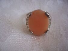 Pink Shell Sterling Silver Ring 7