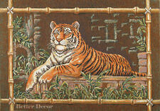 """29.5"""" WALL JACQUARD WOVEN TAPESTRY A Tiger EUROPEAN ANIMAL DECOR - WILD NATURE"""