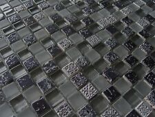 Ornament Mosaik Glas Stein Resin mix rot Modern  auch als Bordüre