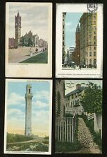 USA MASSACHUSETTS c1905-36 PPCs COLLECTION...8 CARDS
