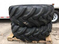 2 New Galaxy 195l 24 Backhoe Tires 12pr R4 195lx24 For Case Cat Amp More