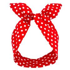 Red & White Polka Dot Wired Headband