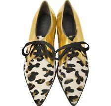 MARNI Amazing RARE Leopard Gold Lace Up Shoes NEW EU 39 UK 5.5 / 6