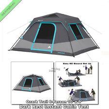 Ozark Trail Instant Cabin Tent 6 Person 10u0027 x 9u0027 Outdoor C&ing Dark Rest  sc 1 st  eBay & Ozark Trail 6 Person Camping Tents | eBay