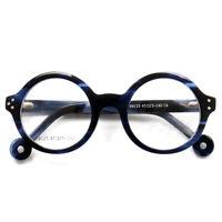 Handmade Thick Acetate Round glasses frame Vintage Retro Eyeglasses RX Eyewear