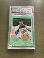 2017 HERITAGE MINORS CLUBHOUSE COLLECTION /99 JERSEY RELIC GLEYBER TORRES PSA 8