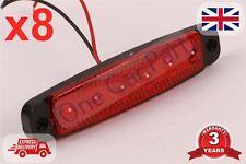 8x 12 V SMD 6 LED Luz de marcador lateral Rojo Calidad posición Camión Remolque