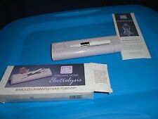 Vtg One Touch Home Electrolysis Unwanted Hair Remover Inverness Deluxe In Box