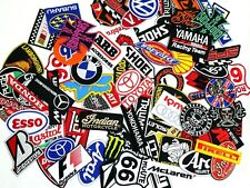 Mix Random Lot of 25 Racing Sport Motorsport Embroidered Sew Iron On Patch Biker