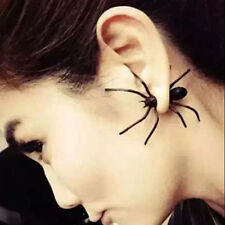 1Pc New Fashion Womens Halloween Black Spider Charm Ear Stud Earrings Jewelry