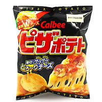 PIZZA POTATO (x 4 Bags) Ridge chips w emmental & cheddar cheese by Calbee Japan