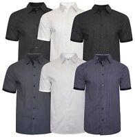 Mens Short Sleeve Stylish Designer Cotton All Over Print Summer Casual Shirt Top