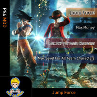 Jump Force (PS4 Mod)-Max Money/EXP For Main Character/Level  All Team Character