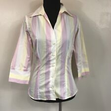 PINK THOMAS PINK YELLOW WHITE AND PINK BUTTON DOWN SHIRT SIZE 4