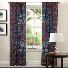 Indian Mandala Door Window Decoration Curtain Drape Sheer Room Scarf Valance Set