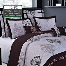 12PC Bundle- Includes Gizelle Duvet Cover- Sheet Set, Down Alternative Comforter
