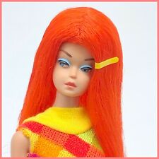 Vintage Barbie Fashion Queen in Red Scarlet Flame Color Magic Wig