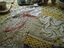 Sale Vintage Lot Hand Crocheted Doilies Lace & Crochet Antique Linens