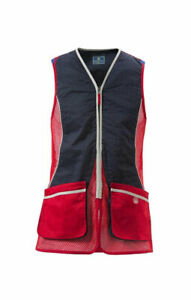 BERETTA New Silver Pigeon Vest Shooting Competition Navy Red Men's Size XL NWT