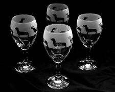 More details for dachshund gift dog wine glasses set of 4..boxed