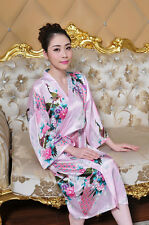 Plus Size Women Long Robe Bridal Wedding Bridesmaid Sleep Kimono Nightdress New