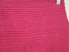 """Vintage Striped Deep Pink Chenille Bedspread Piece 14.5 by 24.5"""""""