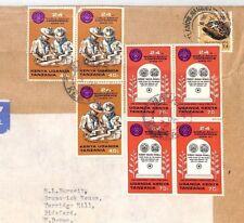 BT28 1973 KENYA KUT MIXED ISSUES Nairobi Commercial Air Mail Cover {samwells}PTS