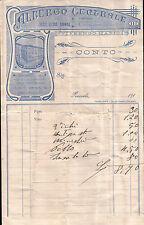 RICEVUTA DELL'ALBERGO CENTRALE già DUE BUOI ROSSI - PINEROLO - 1910/'20  C6-296