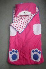 Childs kitten sleeping bag in carry bag