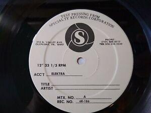 Sparks No.1 In Heaven Vinyl LP Record Album TEST PRESSING Promo White Label