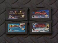 Lot Nintendo Game Boy Advance GBA Games Polar + Santa 3 + Madagascar + Narnia