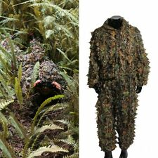 3D Leafy Camo Suit Camouflage Clothing Bow Hunting Clothes Gilly Jungle Men Kit