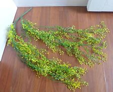 2 Bunches Artificial Plant Hangings Yellow Plastic Admiralty Cane Rattan