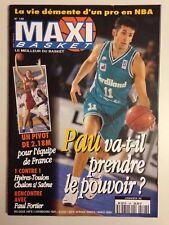 MAXI BASKET N°148 JANVIER 1996 PAU ORTHEZ RIGAUDEAU + POSTER