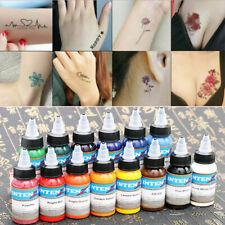 30ml/Bottle Professional Tattoo Ink Monochrome 14 Colors Set Tattoo Pigment Kit